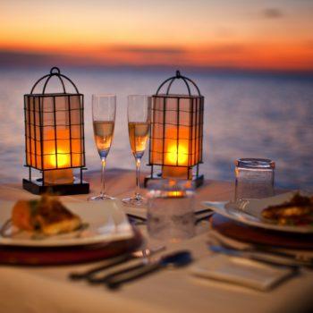 Dinner mit Kerzen