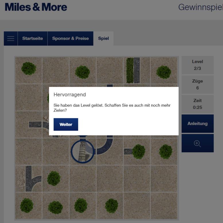Miles & More Gewinnspiel