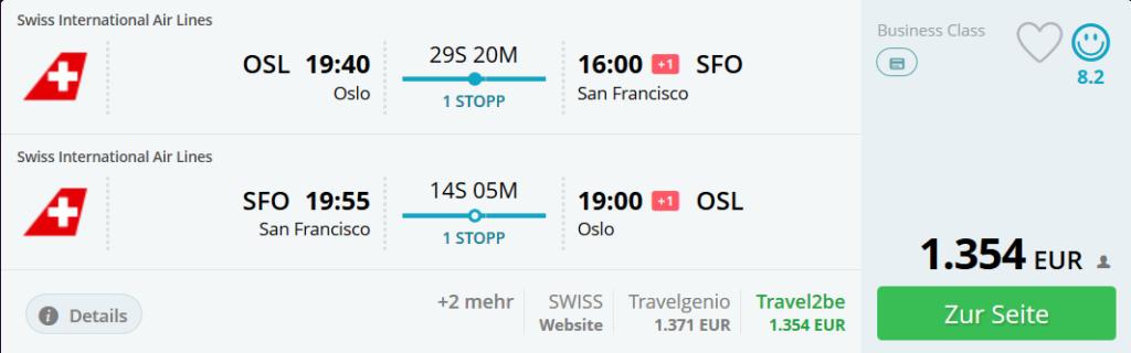 Lufthansa Business Class zum Sonderpreis