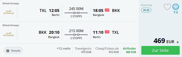 günstig von Deutschland nach Bangkok