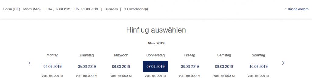 Lufthansa Meilenschnäppchen Oktober 2019