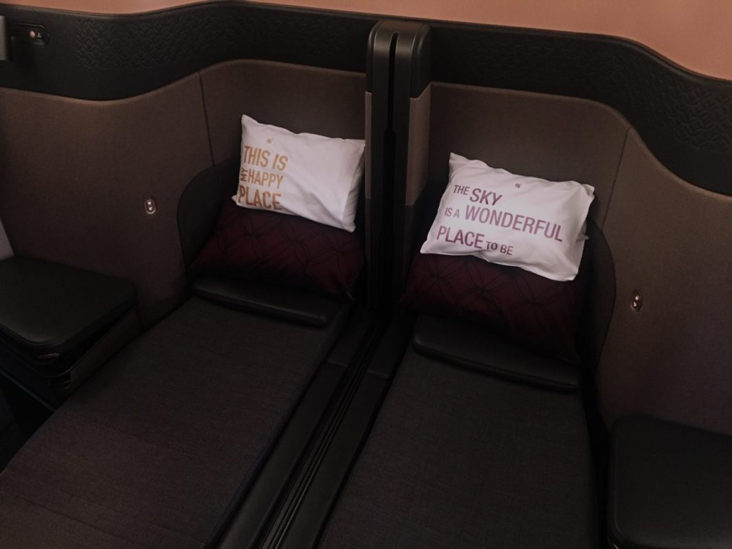 Qatar Airways Qsuite Doppelbett