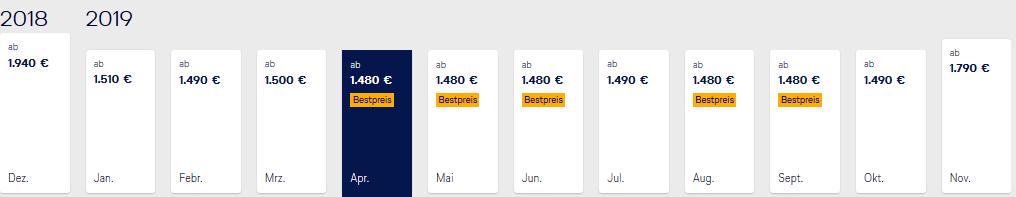 Lufthansa Business Class Bangkok zum günstigen Preis