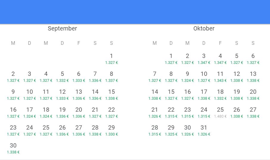 Mailand nach Miami in der Business Class auch gut im September und Oktober möglich