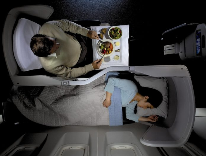 Business Class in die USA