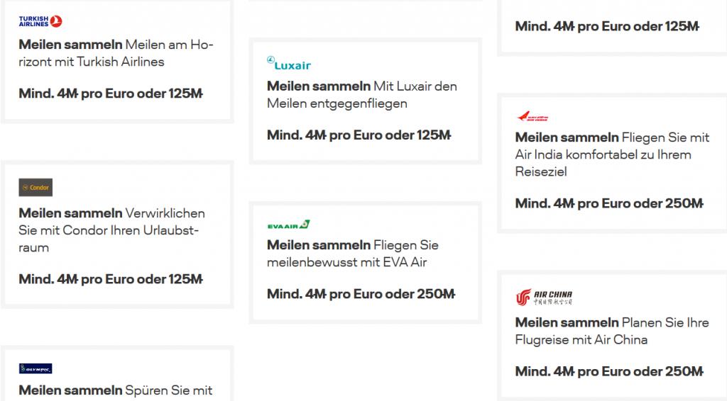Meilen sammeln auf Lufthansa Flügen