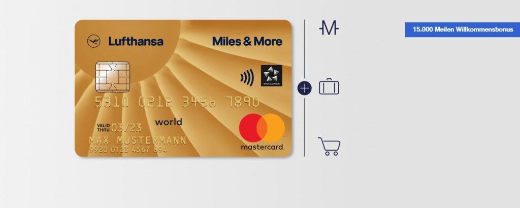Die Miles & More Gold Kreditkarte - Nur für kurze Zeit mit 15.000 Meilen Willkommensbonus
