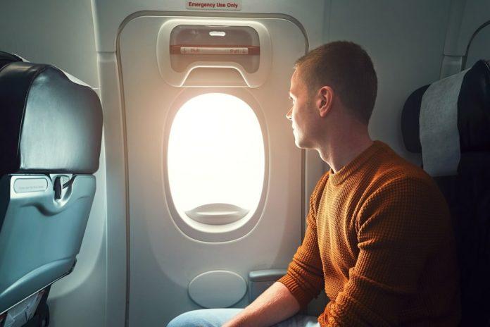 Sitz im Flugzeug