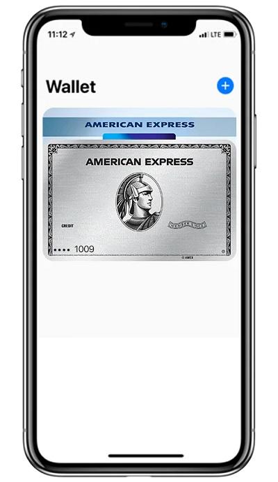Wallet App auf das + Symbol drücken