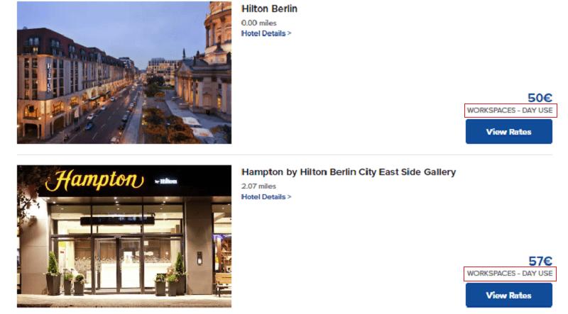 Hilton WorkSpaces Tarif